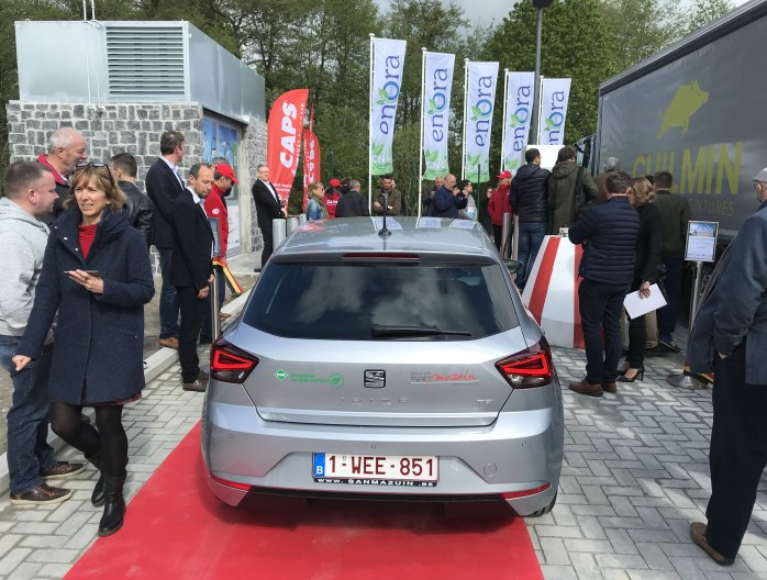Seat Ibiza TGI CNG inaugiration station CNG marche en Famenne